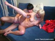 Young blond Vicky gets fucked hard